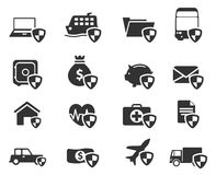 Insurance simply icons Stock Photography