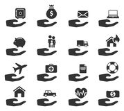 Insurance simply icons Royalty Free Stock Photo