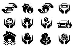 Insurance simply icons Royalty Free Stock Images