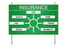 Insurance traffic sign Royalty Free Stock Image