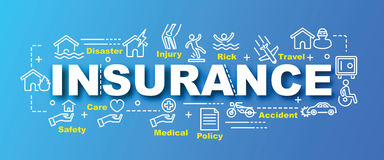 Insurance vector trendy banner Stock Image