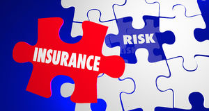 Insurance Vs Risk Security Safety Peace Mind Puzzle Stock Photo