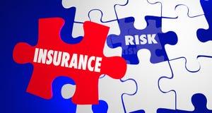 Insurance Vs Risk Security Safety Peace Mind Puzzle. 3d Illustration Stock Photo