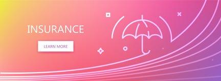 Insurance web banner Stock Photo