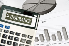 Insurance word Royalty Free Stock Photography