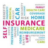 Insurance word cloud. Vector concept illustration II. royalty free stock image