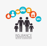 Insurances design Royalty Free Stock Images