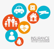 Insurances design Royalty Free Stock Photos