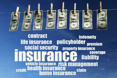 Insurances. Relevant and important topics regarding insurance Stock Photo