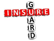 Insure Guard Crossword. 3D Insure Guard Crossword on white background Royalty Free Stock Photography