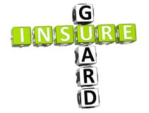 Insure Guard Crossword. 3D Insure Guard Crossword on white background Royalty Free Stock Images
