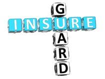Insure Guard Crossword. 3D Insure Guard Crossword on white background Royalty Free Stock Photos
