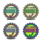 Insured badges Royalty Free Stock Photos