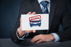 Insured car Royalty Free Stock Image