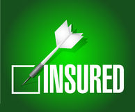 Insured dart check mark illustration design Stock Photo
