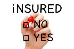 Insured No Red Marker Stock Image