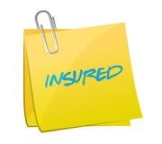Insured post illustration design Stock Photography