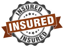 Insured stamp Royalty Free Stock Images