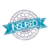 Insured stamp. Insured grunge rubber stamp on white Royalty Free Stock Images