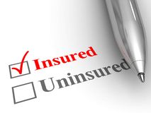 Insured status Stock Image
