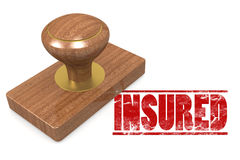 Insured  wooded seal stamp Royalty Free Stock Photo
