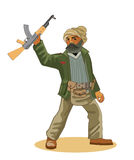 Insurgent Commandos. Man With A Weapons. Stock Photo