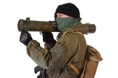 Insurgent with RPG rocket launcher Stock Photos
