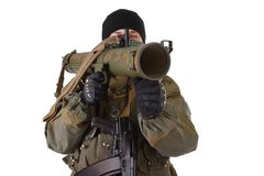 Insurgent with RPG rocket launcher Royalty Free Stock Photos
