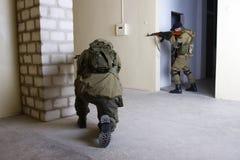 Insurgents with AK 47 ang RPD gun Royalty Free Stock Photo