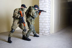 Insurgents with AK 47 Royalty Free Stock Photos