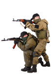 Insurgents with AK 47 Royalty Free Stock Photography
