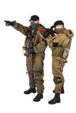 Insurgents with AK 47 and RPD machine gun Stock Image