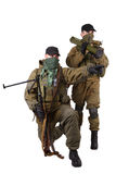 Insurgents with AK 47 and RPD machine gun Royalty Free Stock Photography