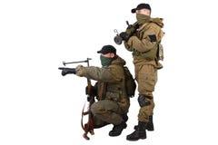 Insurgents with AK 47 and RPD machine gun Stock Photos