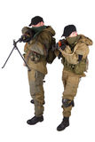 Insurgents with AK 47 and RPD machine gun Royalty Free Stock Photo
