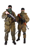 Insurgents with AK 47 and RPD machine gun Royalty Free Stock Image