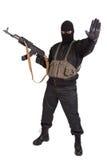 Insurrecto con el Kalashnikov fotografía de archivo libre de regalías