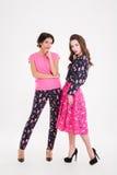 Intégral de deux belles jeunes femmes Photos stock