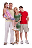 Intégral de la famille heureuse vous regardant Photos stock