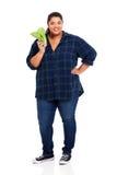 Laitue de poids excessif de femme photos stock