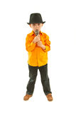 Intégral du garçon de chanteur Image libre de droits