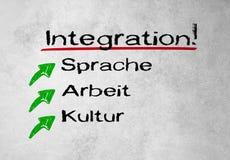 Intégration ! Écrit sur le mur Photographie stock