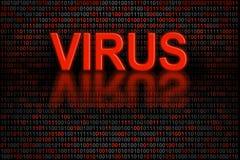 Intégrez dans le logiciel ou des données digitales infectées par un virus photo libre de droits