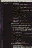 Intégrez dans le logiciel sur l'écran noir images libres de droits