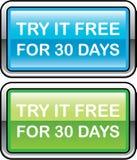 Inténtelo libremente para el botón de 30 días libre illustration
