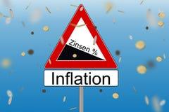 Intérêt et inflation Photos stock