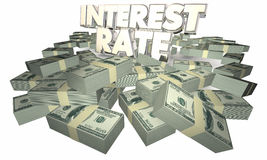 Intérêt Rate Borrow Money Earn Savings Photographie stock