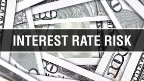 Intérêt Rate Risk Closeup Concept Dollars américains d'argent d'argent liquide, rendu 3D Intérêt Rate Risk au billet de banque du illustration libre de droits