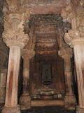 Intérieur à l'intérieur du groupe occidental de temples, y compris Visvanatha, Khajuraho, Madhya Pradesh, Inde, site de patrimoin photos stock
