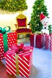 Intérieur à la maison d'étalage, décoration de Noël sur l'espace vital Photographie stock libre de droits